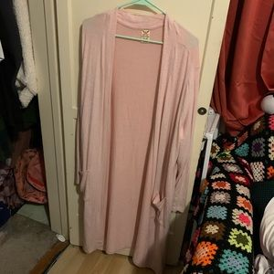 Faded Glory Floor/Ankle length pink cardigan